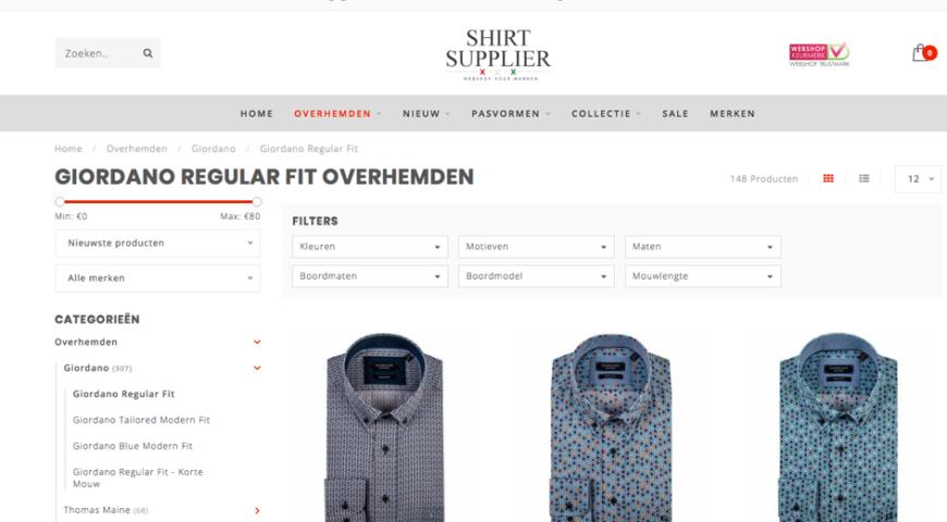 Nieuwe webshop Shirtsupplier.nl